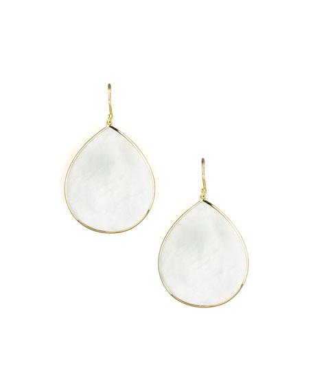 Ippolita 18k Giant Teardrop Slice Earrings in Mother-of-Pearl