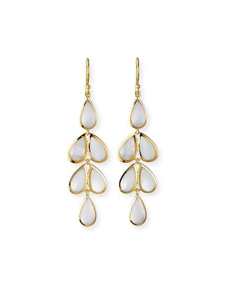 18K Rock Candy Mother-of-Pearl Teardrop Earrings