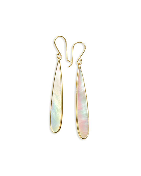 18K Polished Rock Candy Long Drop Earrings