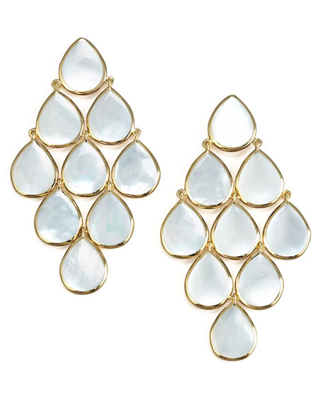 18k Polished Rock Candy Cascade Earrings