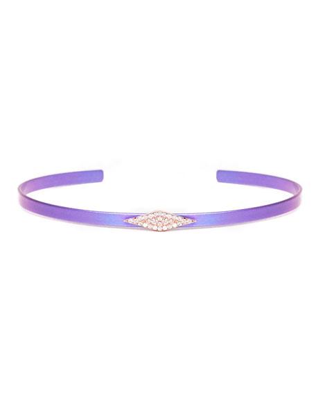 Cosmos Diamond Station Titanium Bracelet, Purple
