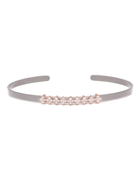Cosmos Full-Row Titanium Bracelet with Diamonds