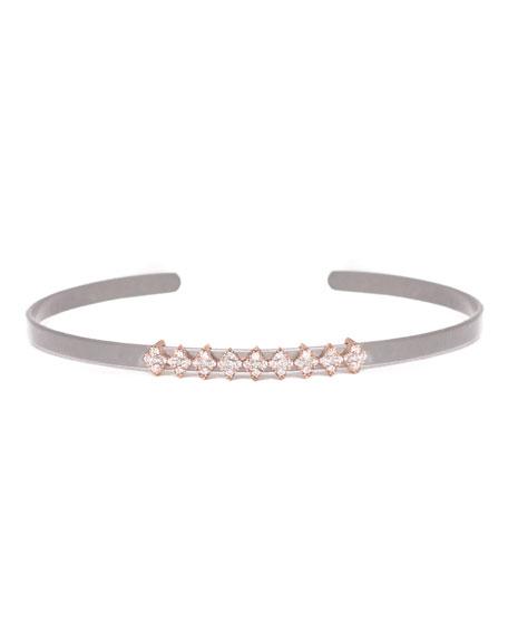 Cosmos Full-Row Titanium Bracelet with Diamonds