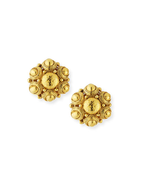 Jose & Maria Barrera Hammered Button Earrings