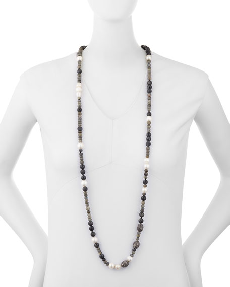 Savannah Beaded Necklace, 43""