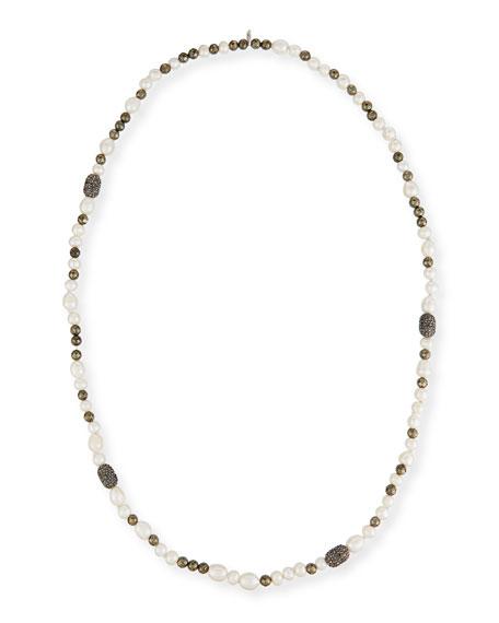 Hipchik Mychelle Pearly Bead & Rhinestone Necklace, 43
