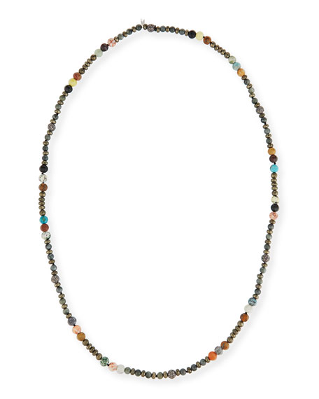 Caryn Long Beaded Necklace, 43""