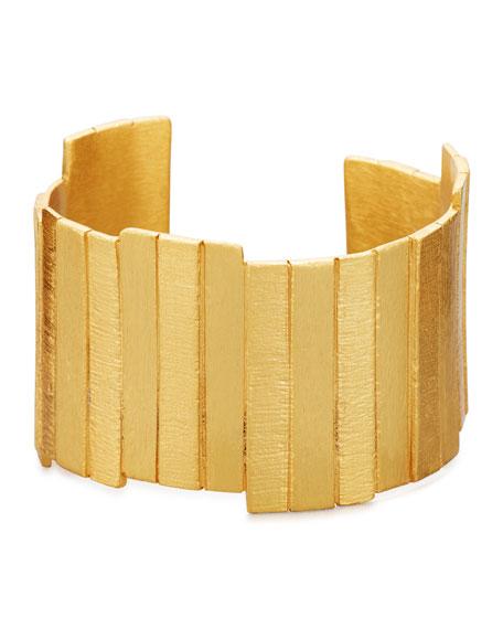 Golden Plank Cuff Bracelet