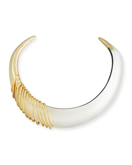 Alexis Bittar Coiled Collar Necklace, Silver