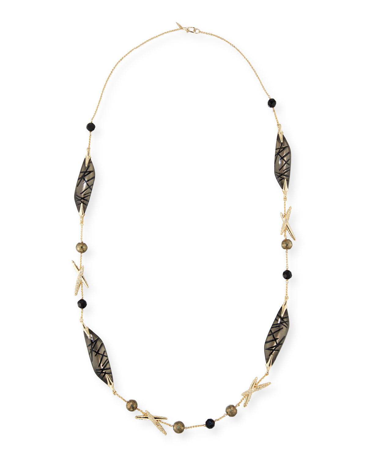 Alexis Bittar Long Futurist Station Necklace Q83Zg