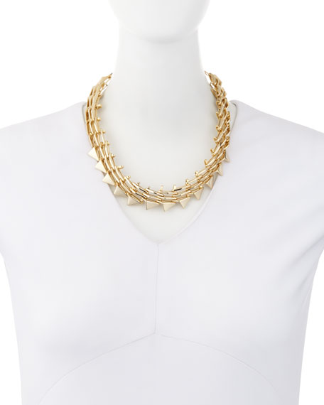 Golden Futurist Link Necklace
