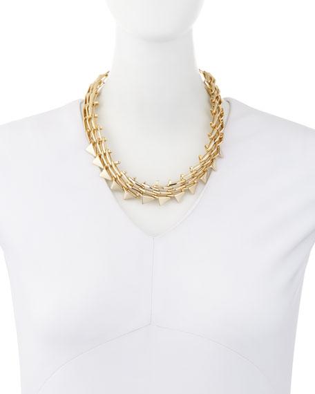Golden Futurist Link Necklace