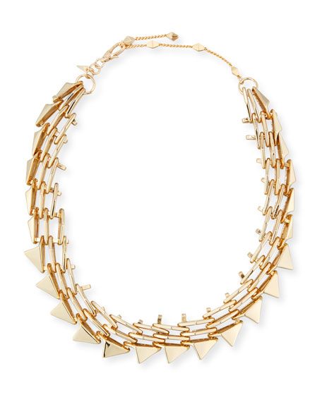 Alexis Bittar Golden Futurist Link Necklace