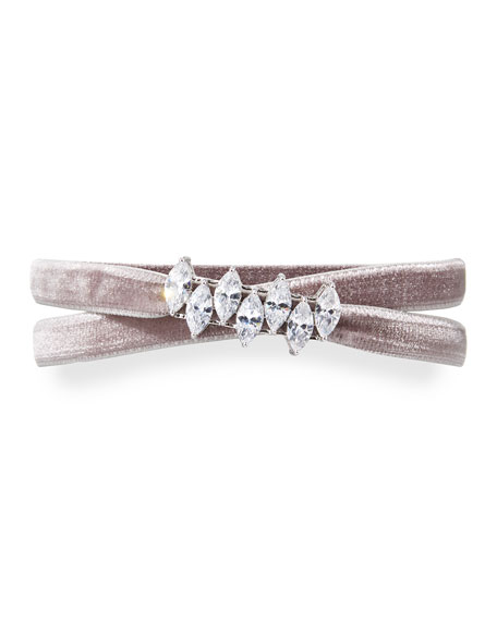 Monarch Mini Velvet Jagged Edge Choker Necklace