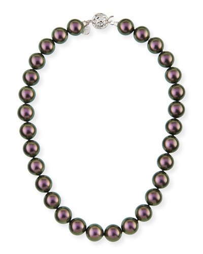 14mm Tahitian Simulated Pearl Necklace, 18