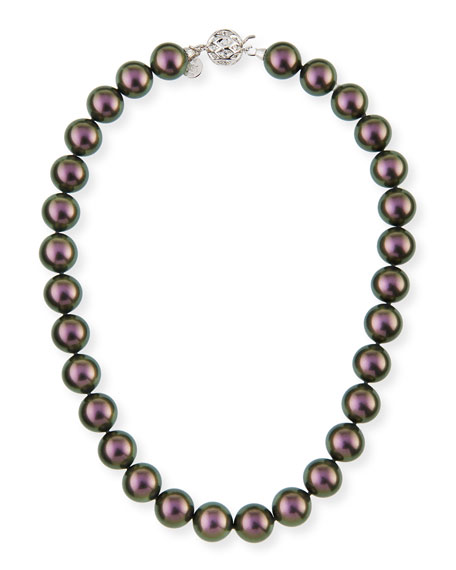 14mm Tahitian Simulated Pearl Necklace, 18""