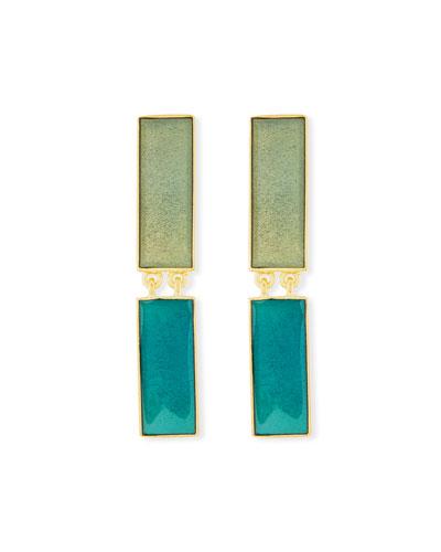 Bolt Linear Double-Drop Earrings