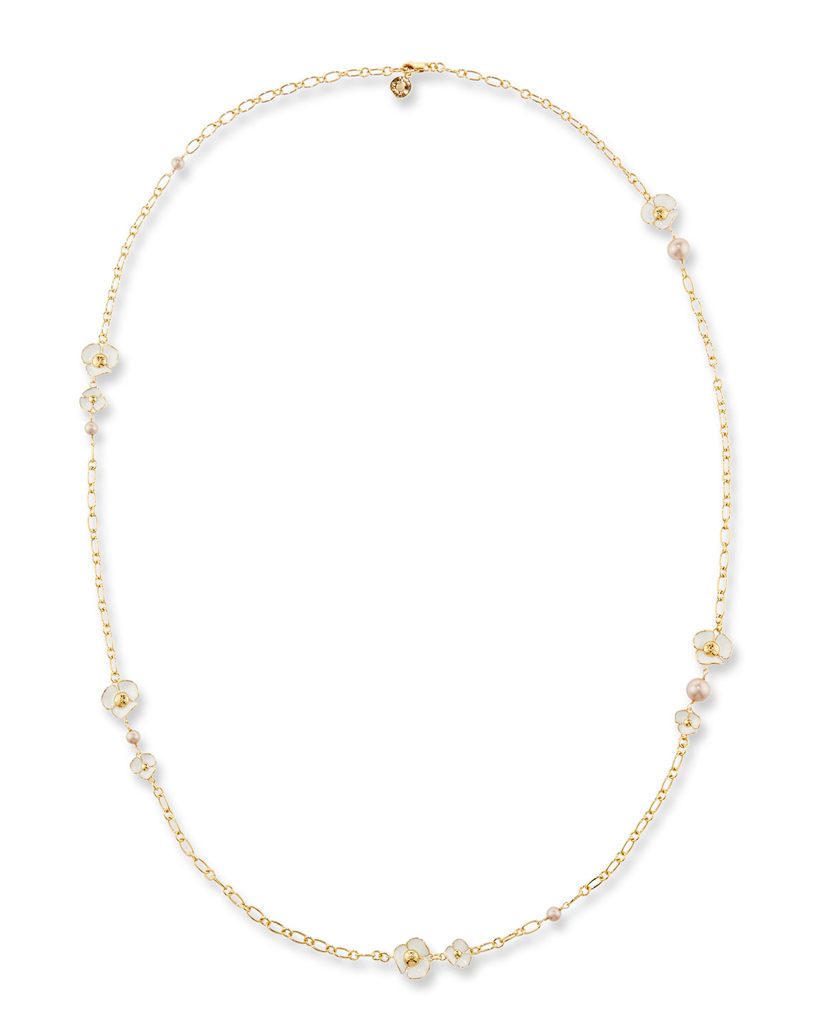 8aacf0dc845d Tory Burch Fleur Rosary Station Necklace