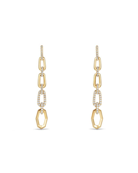 David Yurman Stax 18k Convertible Chain Link Earrings
