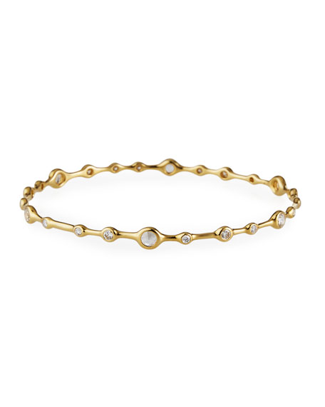 18K Gold Stardust Superstar 24-Diamond Bangle