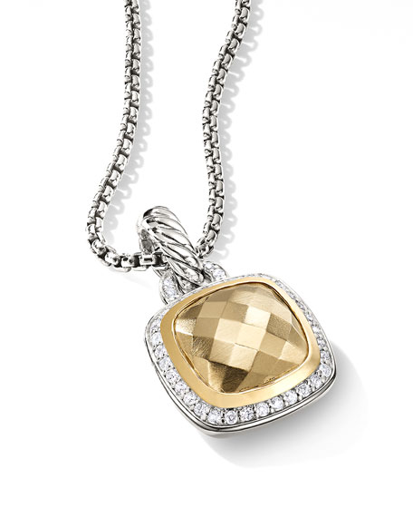 Image 4 of 4: David Yurman Albion Pendant with Diamonds and 18k Gold