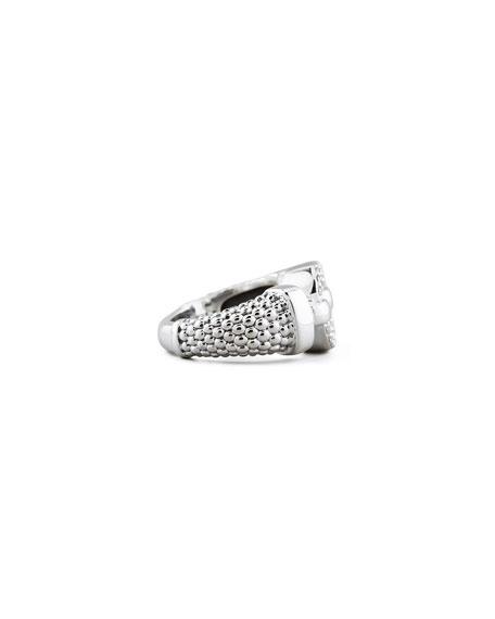 Enso Diamond Caviar Ring, 13mm