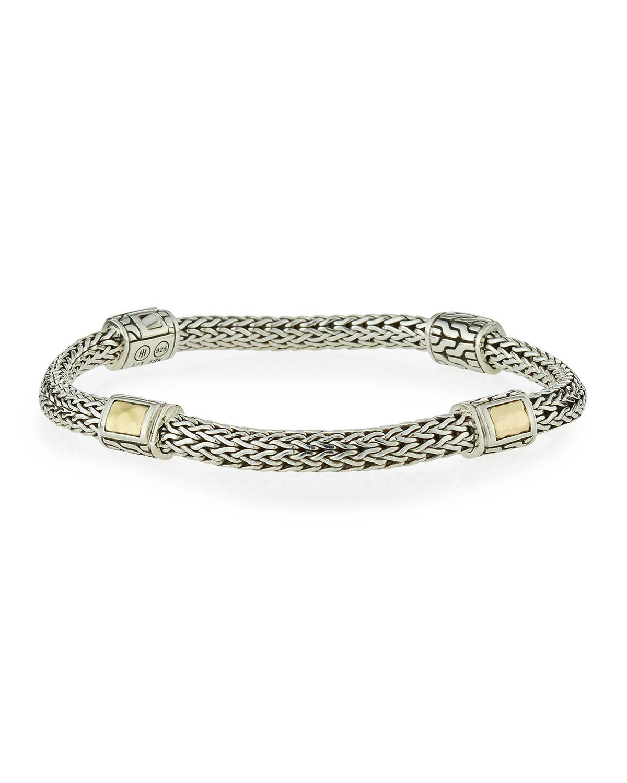 Medium Clic Chain Four Station Bracelet