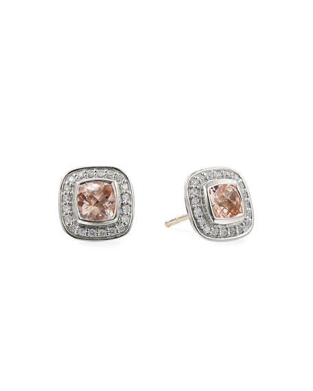 David Yurman Petite Albion Earrings with  Pink Morganite and Diamonds