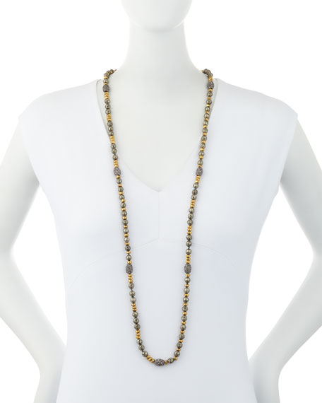 Ava Pyrite & Golden Nugget Necklace