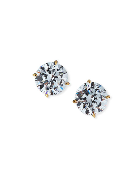 Fantasia by DeSerio 14kt Yellow Gold CZ Stud