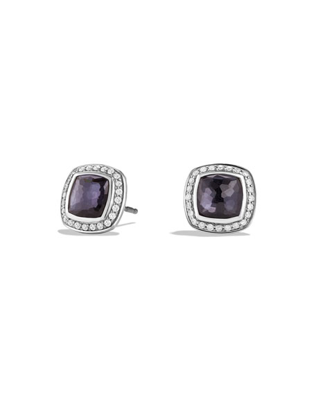 David Yurman Albion Stud Earrings with Black Orchid