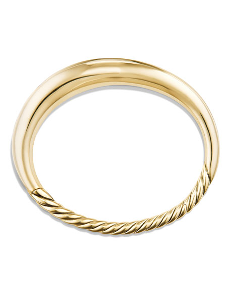 9.5mm Pure Form Large Smooth Bracelet in 18K Gold, Size M