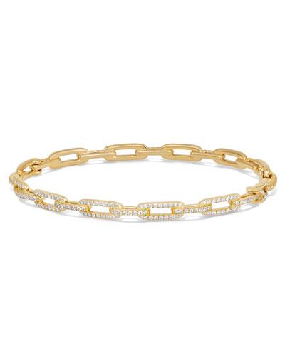 Stax Chain Link Bracelet in 18k Yellow Gold w/ Diamonds, Size S
