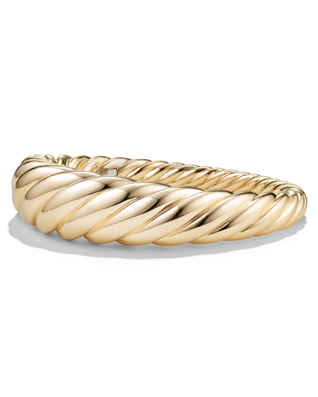 17mm Pure Form Cable 18K Bracelet, Size M