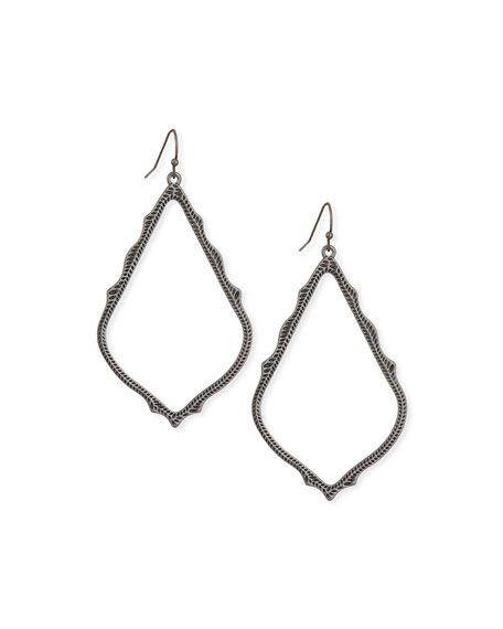 Kendra Scott Sophee Statement Drop Earrings in Gunmetal