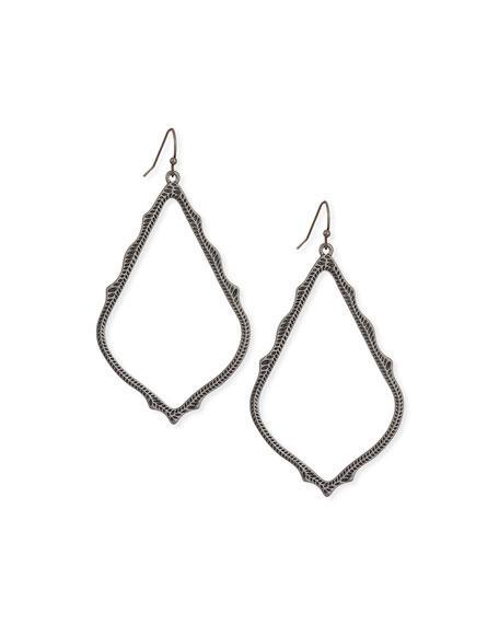 Sophee Statement Drop Earrings in Gunmetal