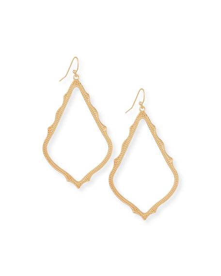 Sophee Statement Drop Earrings in Rose Gold Plate