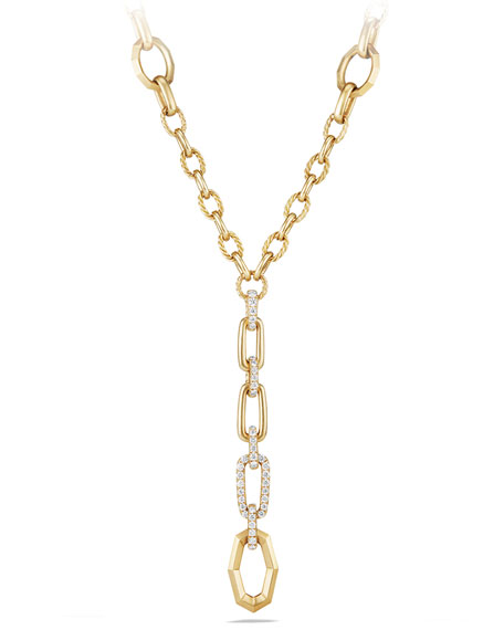 Stax 18K Yellow Gold Y-Drop Necklace with Diamonds