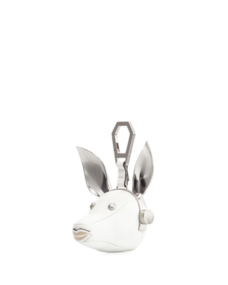 Blu Leather Dog Charm, White/Multi