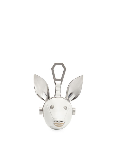 Kendall + Kylie Blu Leather Dog Charm, White/Multi