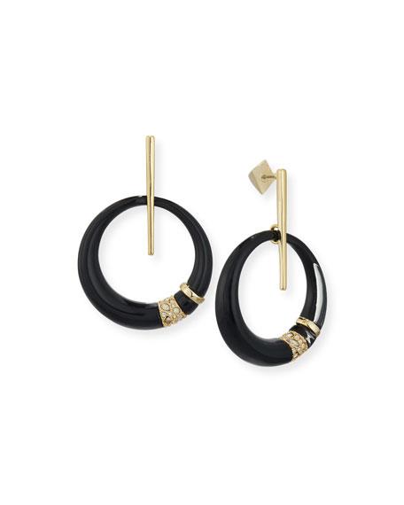 Alexis Bittar Crystal-Encrusted Minimalist Hoop Earrings
