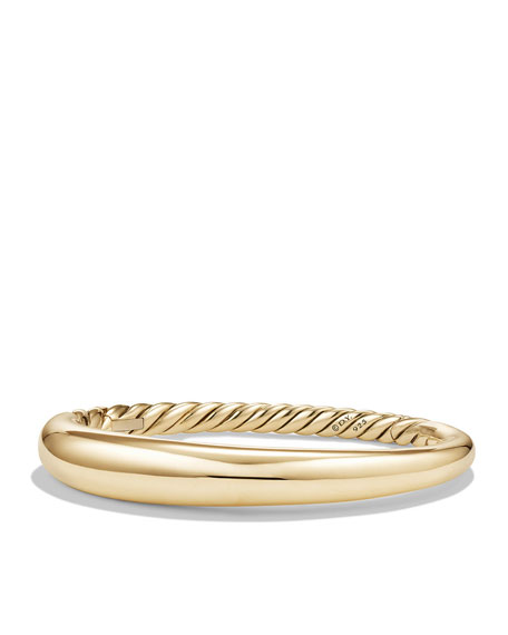 9.5mm Pure Form Large Smooth Bracelet in 18K Gold