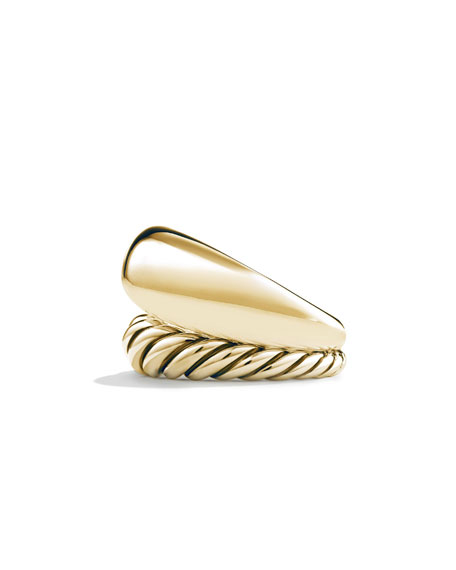 17mm Pure Form Two Row Ring in 18K Gold, Size 6