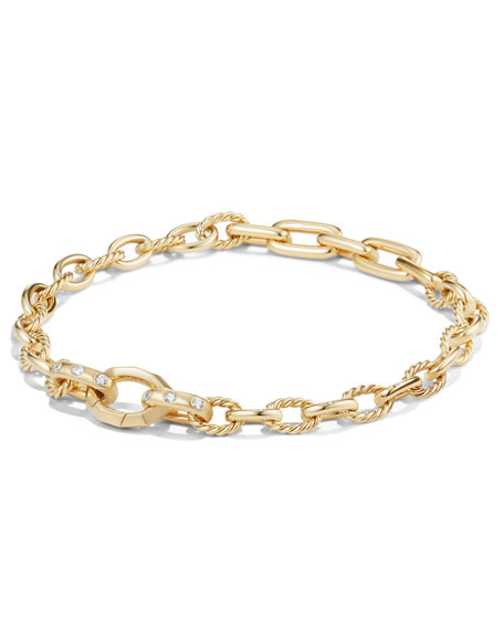 Stax 18K Yellow Gold Chain Bracelet with Diamonds