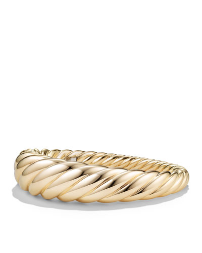 17mm Large Pure Form Cable Bracelet in 18K Gold  Size L