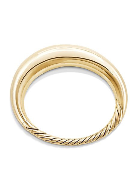 17mm Pure Form Bracelet in 18K Yellow Gold, Size S