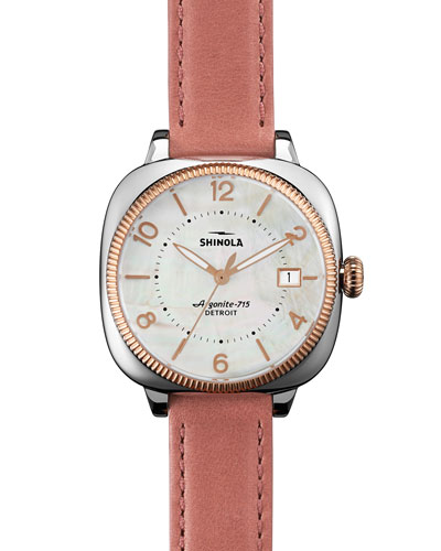36mm Gomelsky Two-Tone Watch, Pink