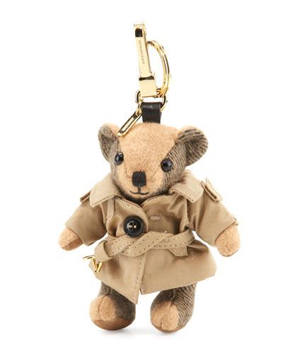 Thomas Trenchcoat Bear Bag Charm, Camel