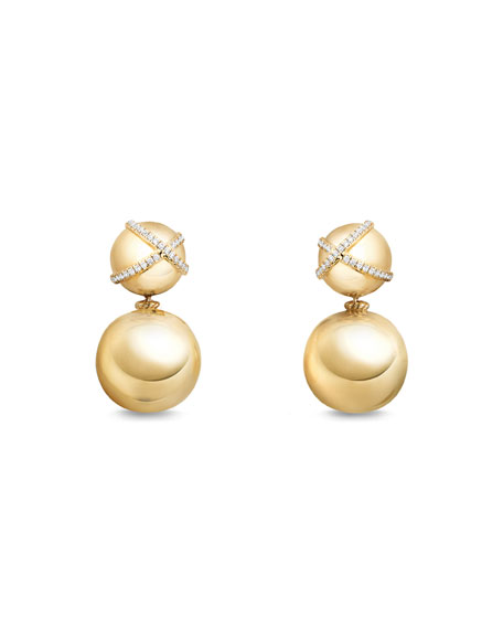 18mm Solari Two-Drop Earrings with Diamonds