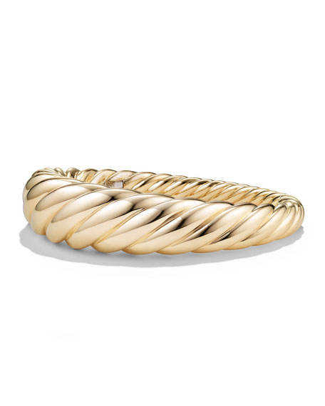 17mm Large Pure Form Cable Bracelet in 18K Gold, Size S
